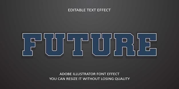 Toekomstig tekstlettertype-effect