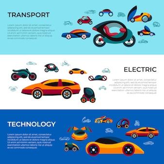 Toekomstige auto concept iconen collectie