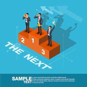 Toekomstige business leader concept finance manager business man.