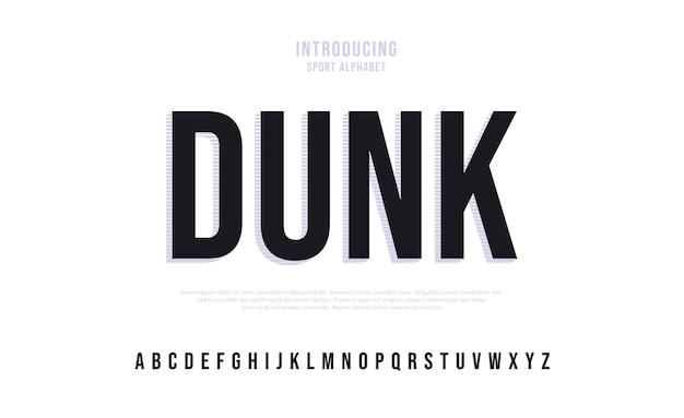 Toekomstige moderne alfabet lettertype typografie stedelijke stijl lettertypen voor sport technologie digitale film logo