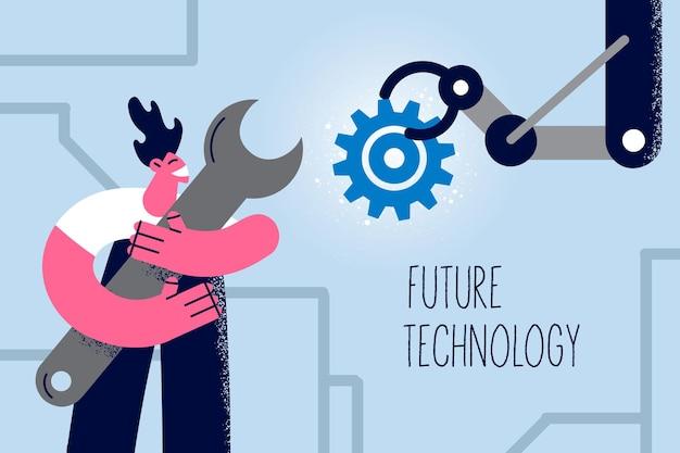 Toekomstige technologie en kunstmatige intelligentie concept