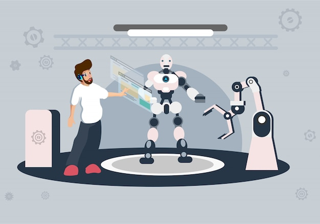 Toekomstige technologie van illustratie van kunstmatige intelligentie