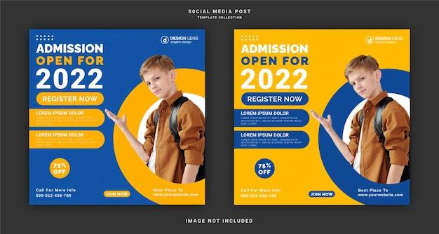 Toelating voor open 2022 social media post-sjabloon