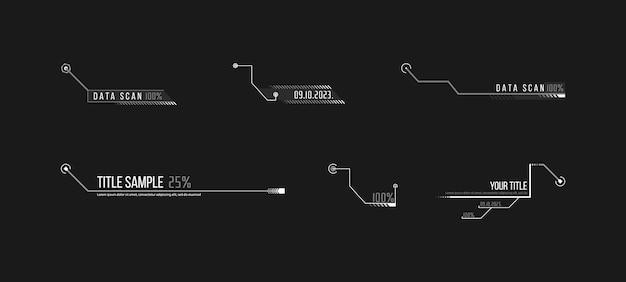 Toelichting, headers vector illustratie