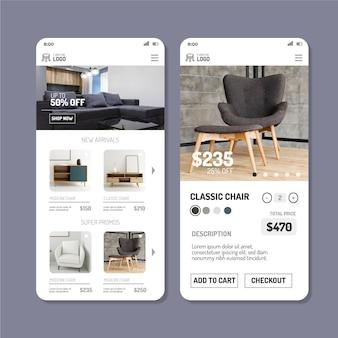 Toepassing voor het kopen van meubels