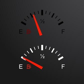 Toerenteller en brandstofmeter set