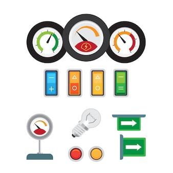 Toerenteller, snelheidsmeter en brandstofsensor