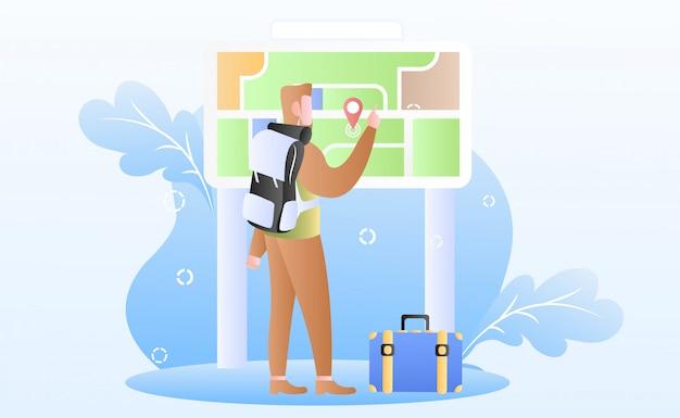 Toerisme dag illustratie