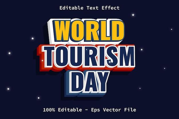 Toerisme dag moderne stijl teksteffect