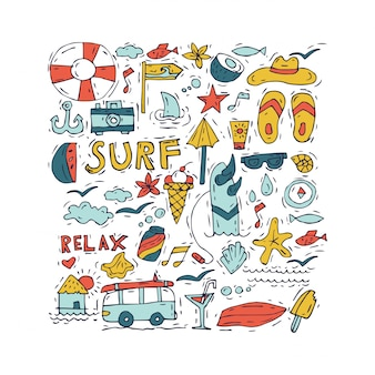 Toerisme en vakantie thema.