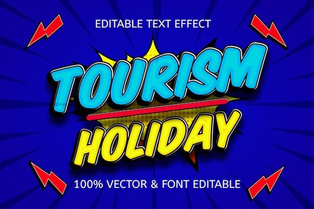 Toerisme vakantie kleur blauw geel bewerkbaar teksteffect