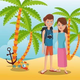 Toerist op het strand
