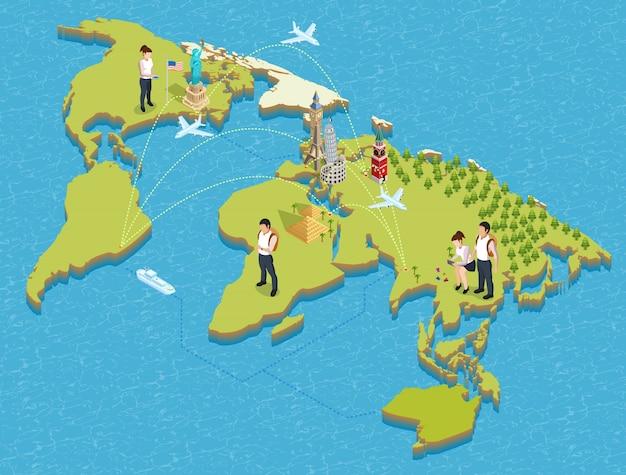 Toeristen en bezienswaardigheden poster