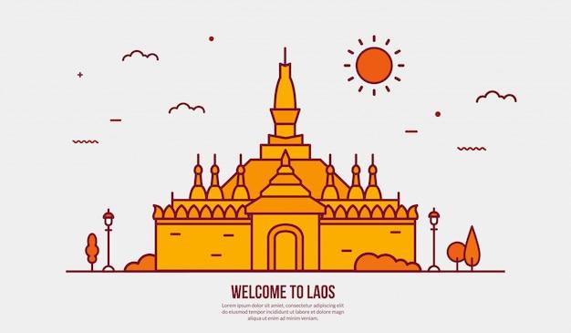 Toeristische attractie van laos