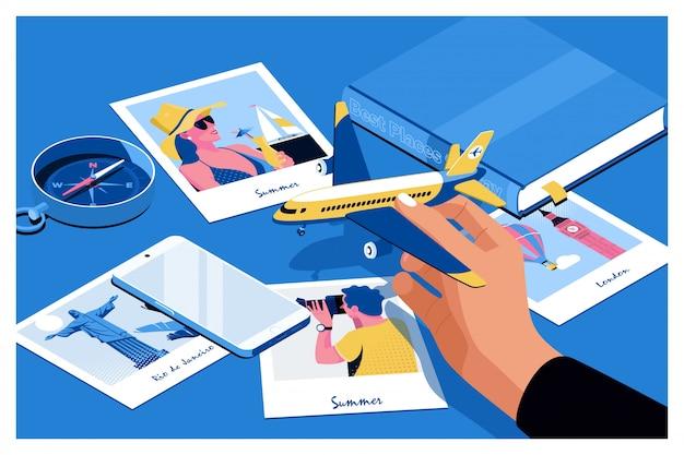 Toeristische planning vakantie
