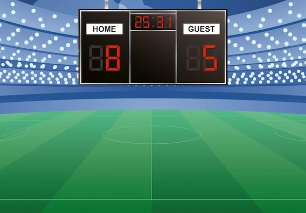 Toernooi scorebord digitaal geïsoleerd pictogram