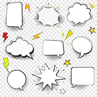 Toespraak bubble dunne lijn pictogramserie overzicht web teken van komische vertellen. pop-art, strips, chat lineaire klantendialoogpictogrammen leeg sjabloon, clean label eenvoudige tekstballon symbool geïsoleerde illustratie
