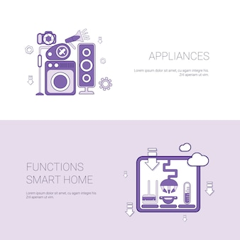 Toestellen en functies smart home template banner