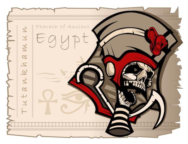 Toetanchamonheerser van het oude egypte