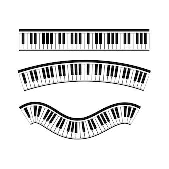 Toetsenbord piano vector muziekinstrument illustratie ontwerp