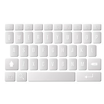 Toetsenbord van smartphone