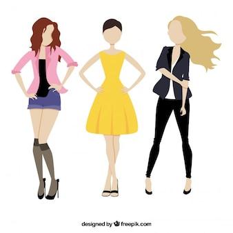 Toevallige modellen meisjes