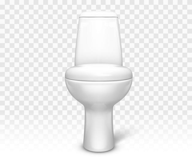 Toilet met zitje. witte keramische toiletpot