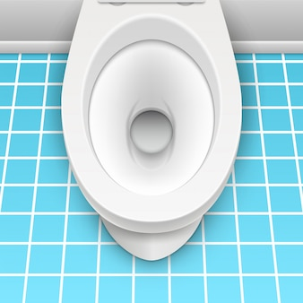 Toilet witte mockup illustratie geïsoleerd. toilet in schone badkamer. huis hygiëne