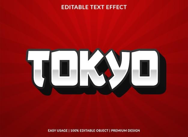 Tokyo teksteffect vet lettertype