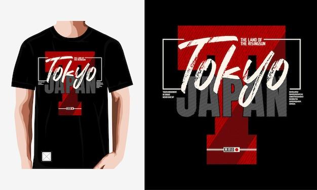 Tokyo typografie tshirt ontwerp premium vector