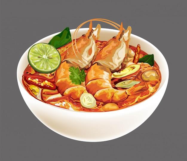 Tom yum kung thais eten