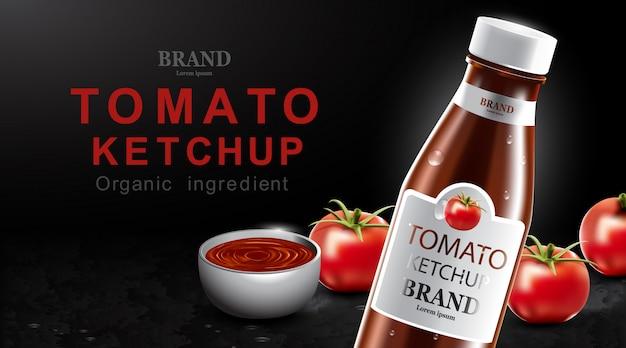 Tomatenketchup met vers fruit