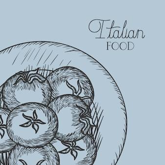 Tomatenplant italiaans eten getrokken