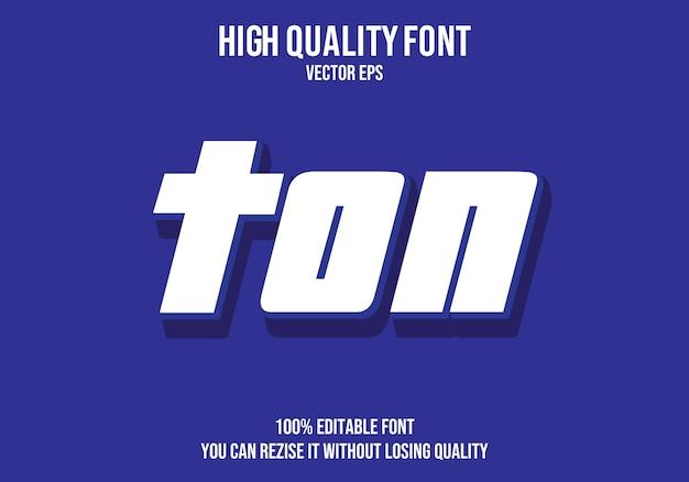 Ton tekst lettertype effect