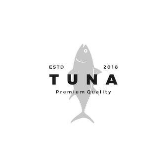 Tonijn vis logo embleem label zeevruchten vector pictogram