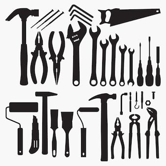 Tools collectie silhouetten