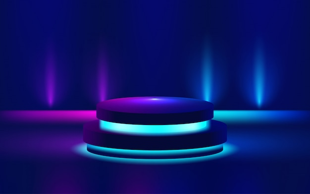Toon lichte podium paarse illustratie