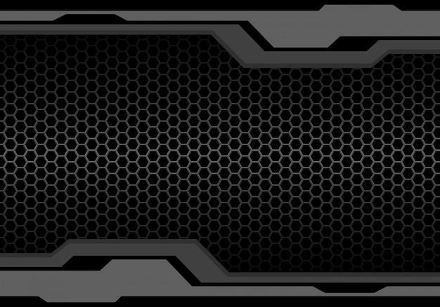 Toon veelhoek futuristische metalen zeshoek mazen achtergrond.