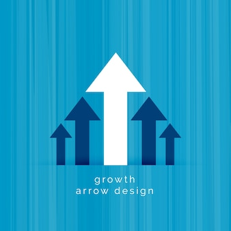 Toonaangevende witte pijl zakelijke groeimalplaatje