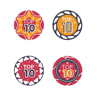 Top 10 badgescollectie