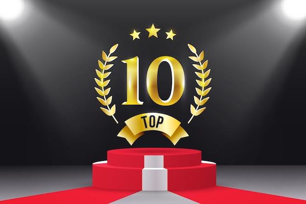 Top 10 beste podiumprijs