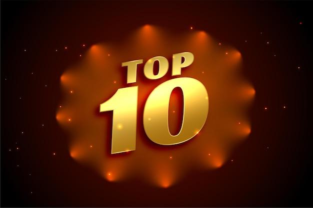 Top 10 glanzende gouden award