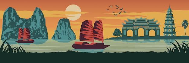 Top beroemde bezienswaardigheid van vietnam