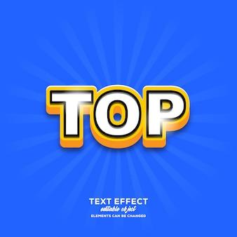 Top eenvoudig teksteffect met moderne stijl