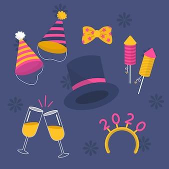Top hat en 2020 party element collectie