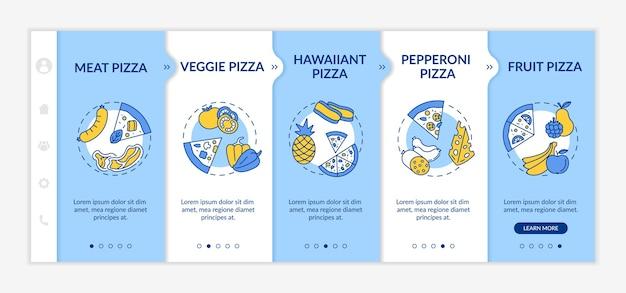 Top pizza soorten onboarding-sjabloon