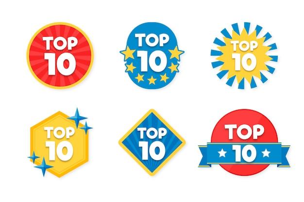Top tien badges-collectie