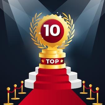 Top tien beste podiumprijs
