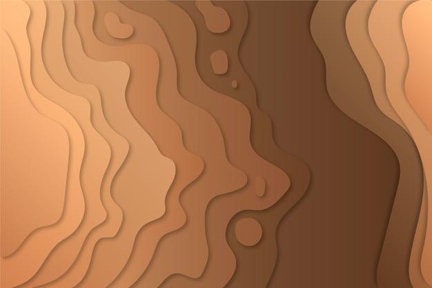 Topografische kaart contourlijnen vuil tinten