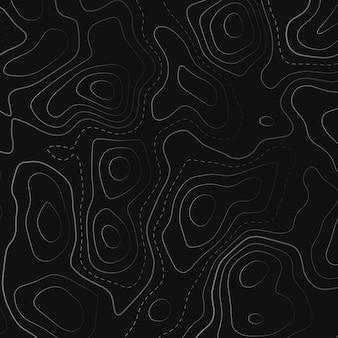 Topografische kaart op zwarte achtergrond